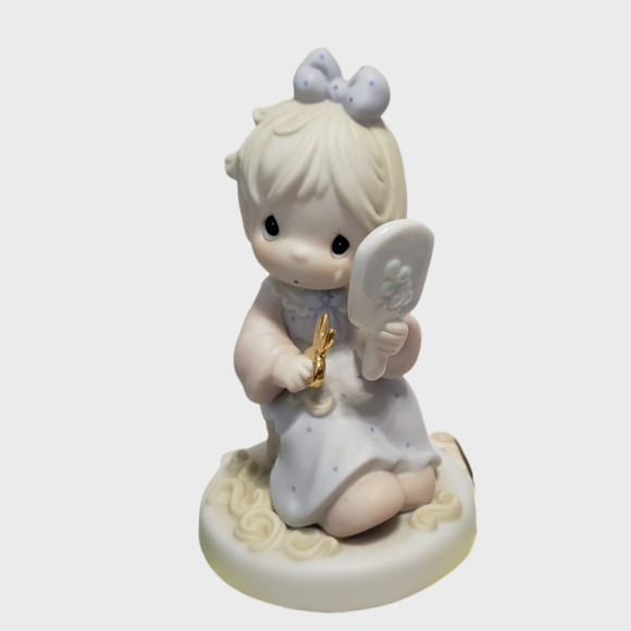 Vintage Precious Moments We All Have Our Bad Hair Days 1996 porcelain figurine